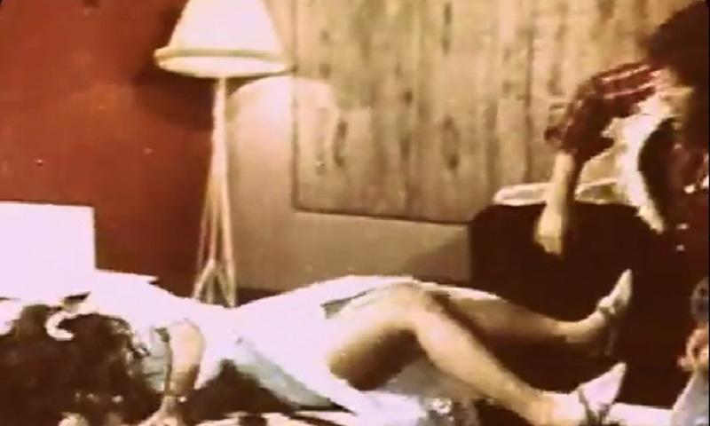 Raunchy: A still from Pakistan's first 'X-rated' film, 'Dhulan Aik Raat Ki' (1975) that starred 'Pakistan's Charles Bronson', Badar Munir.