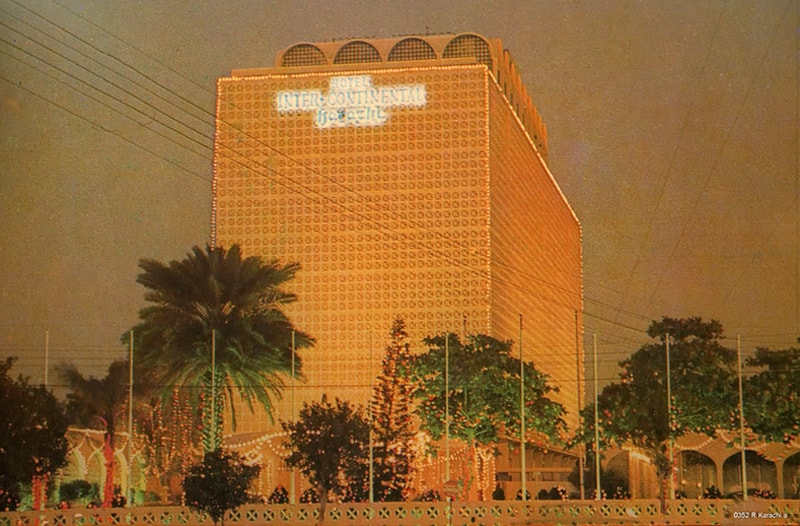 Karachi's famous Hotel Intercontinental (now Pearl Continental) during the New Year's Eve of 1980.