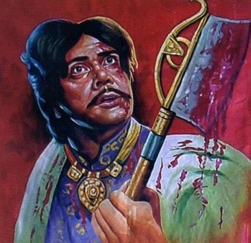 Pulp Punjabi: A 1980 hand-painted billboard of Punjabi action hero, Sultan Rahi (as Maula Jat). The film Maula Jat was an instant hit thanks to its snappy dialogues, craggy violence and raunchy dances. It turned Rahi into a super star. Punjabi film industry boomed after the collapse of the Urdu film industry.