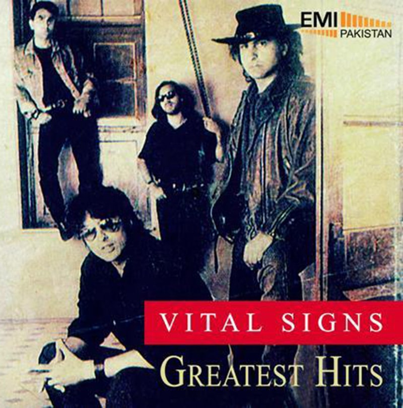 1993 cover of a Greatest Hits album by Pakistani pop band, The Vital Signs. The group was the country's top pop act in the 1990s.
