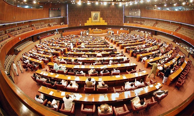 The Pakistan National Assembly in session.