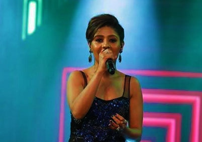 Sunidhi Chauhan.— Photo courtesy: Hum Awards' Facebook page