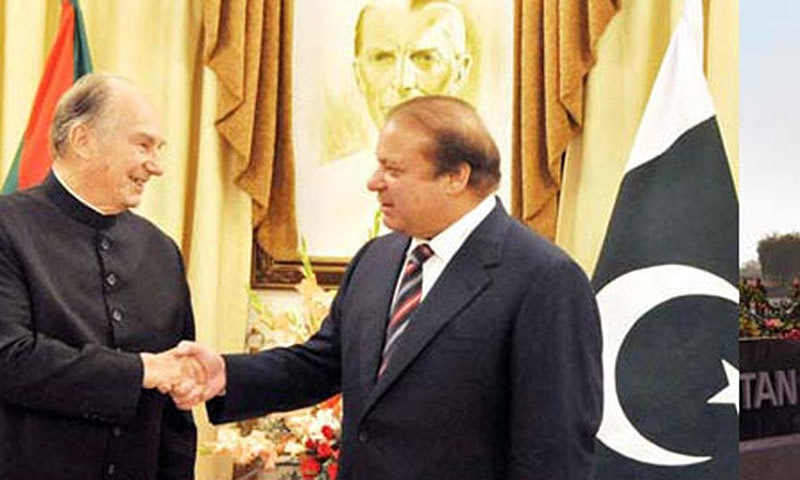 Leader of the Agha Khan community in Pakistan meets Pakistan PM, Nawaz Sharif.