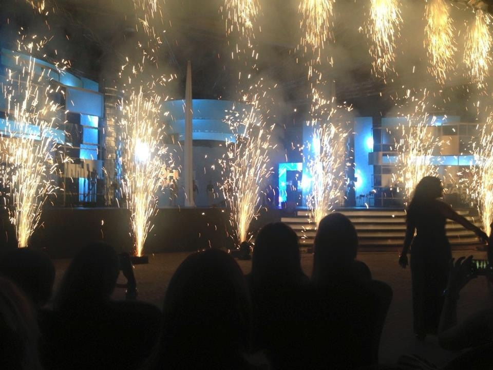 Sparklers at the beginning of the show. — Photo courtesy: Hamna Zubair