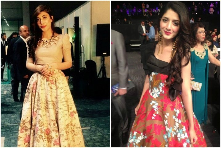 From L-R: Urwa dons some Outhouse jewels while Mawra sizzles in Ali Xeeshan.