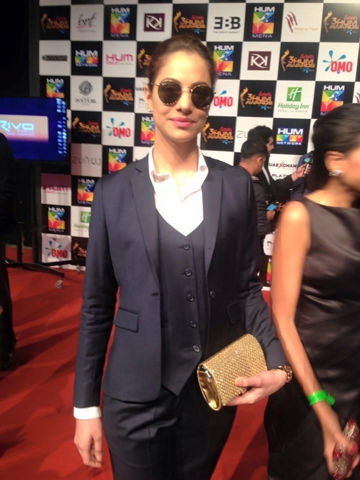 The German/Pakistani model went for a simple, sleek look. — Photo courtesy: Hamna Zubair