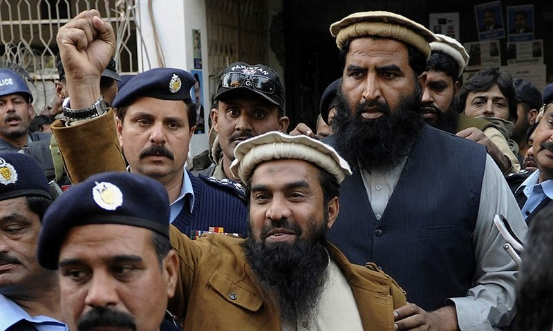 Lakhvi was handed over to members of the Jamatud Dawa after his release from Adiala jail. ─ AP/File