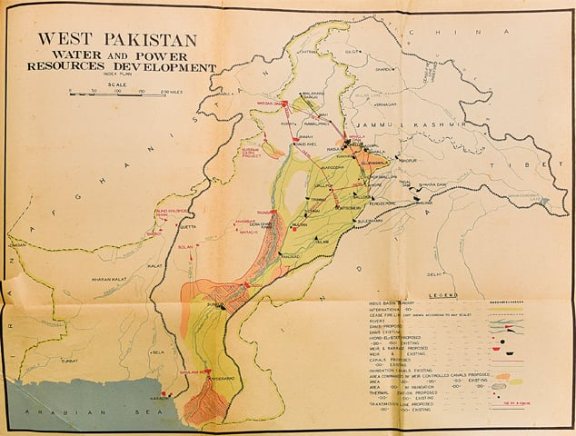 Figure 1: A map of Pakistan's power sector as it stood in 1955. Source: First five year plan