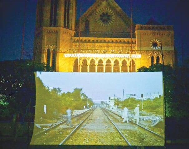 A film on the Karachi Circular Railway by Ivan Sigal shown at Numaish Karachi.—White Star