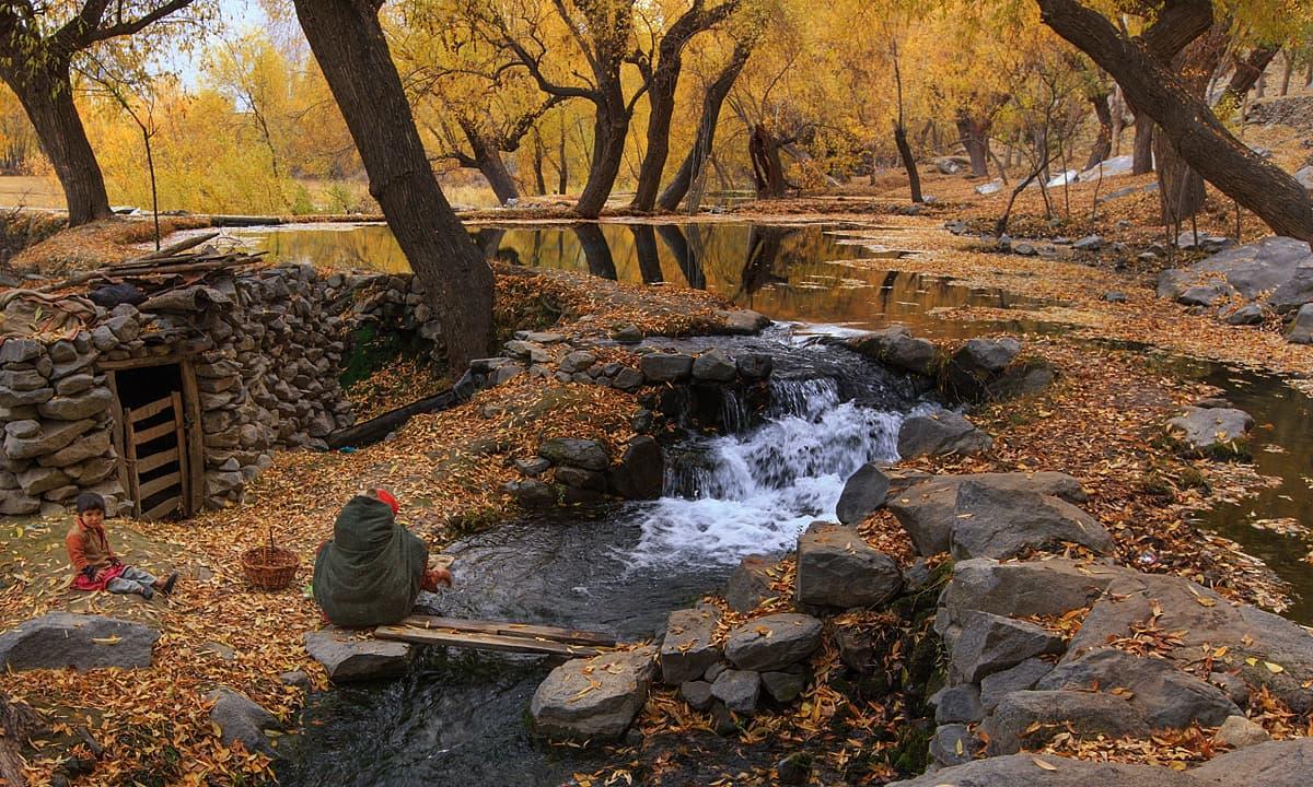 خپلو میں روز مرہ کی زندگی — فوٹو سید مہدی بخاری