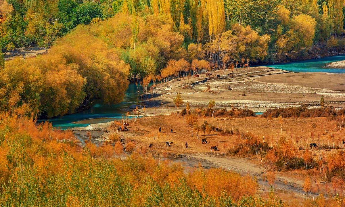 مچلو گاؤں سے نظارہ — فوٹو سید مہدی بخاری