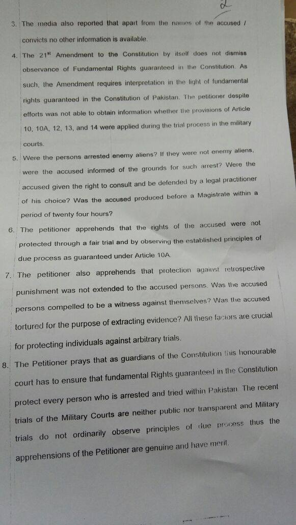 A copy of the petition, page 2. - Photo by reporter