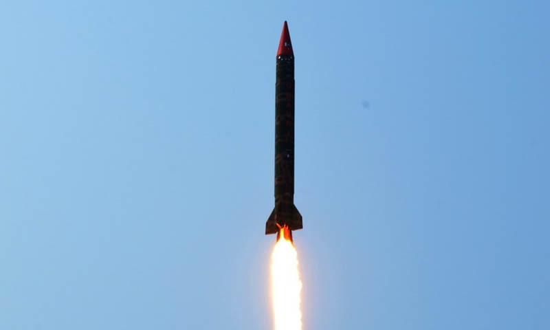 The Ballistic Missile Ghauri  is capable of carrying both conventional and nuclear warheads up to a distance of 1300 kilometres.
