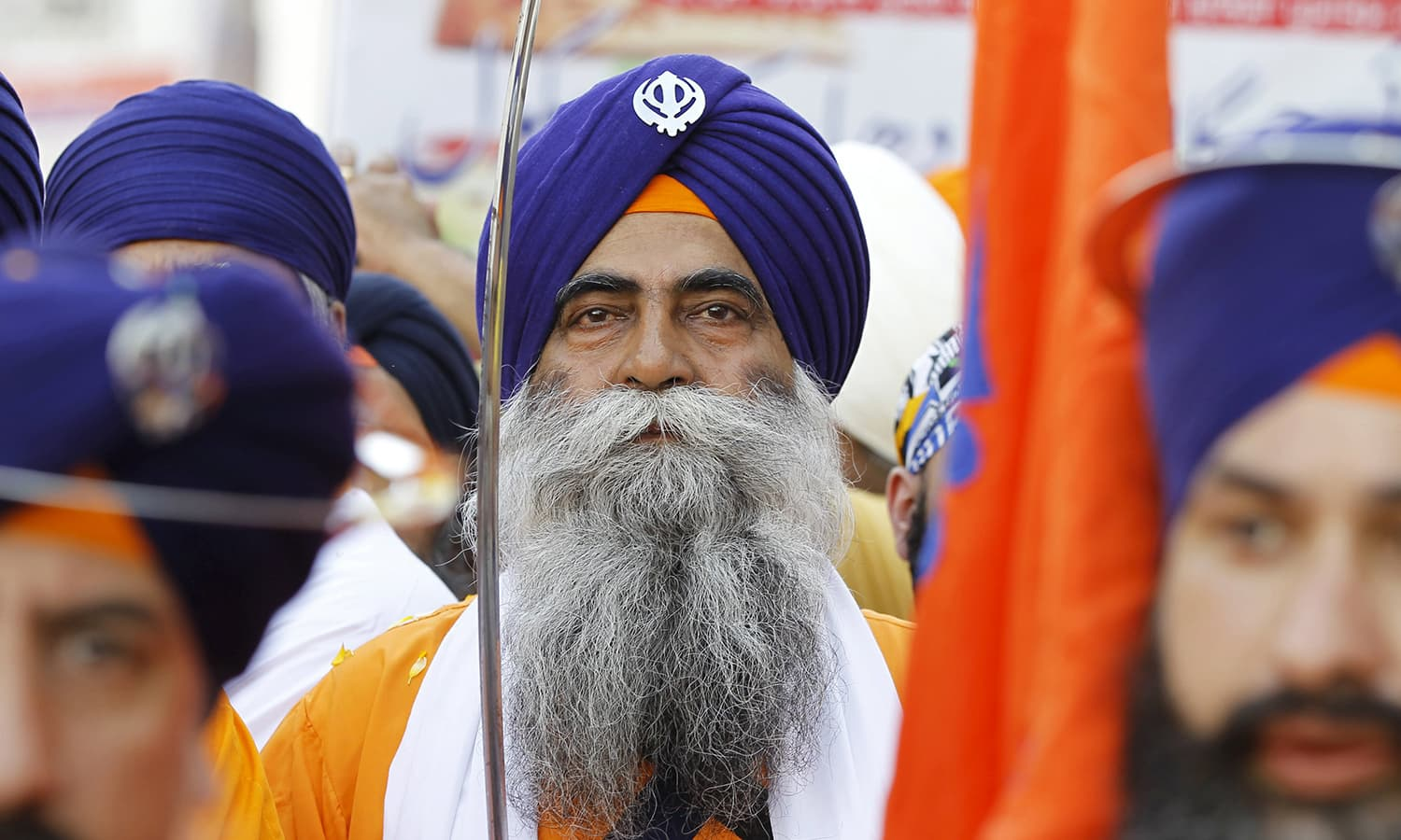 Sikh devotees participate in the Baisakhi festival at Panja Sahib shrine in Hassan Abdal. — Reuters