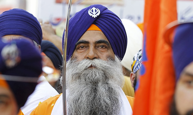 Around 2,000 Sikh pilgrims from India participated in the festival. — Reuters