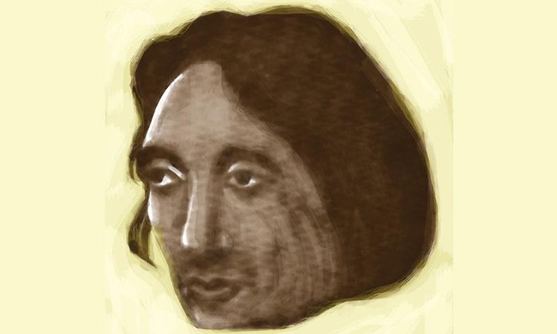 An early portrait of a rosier Saghar.