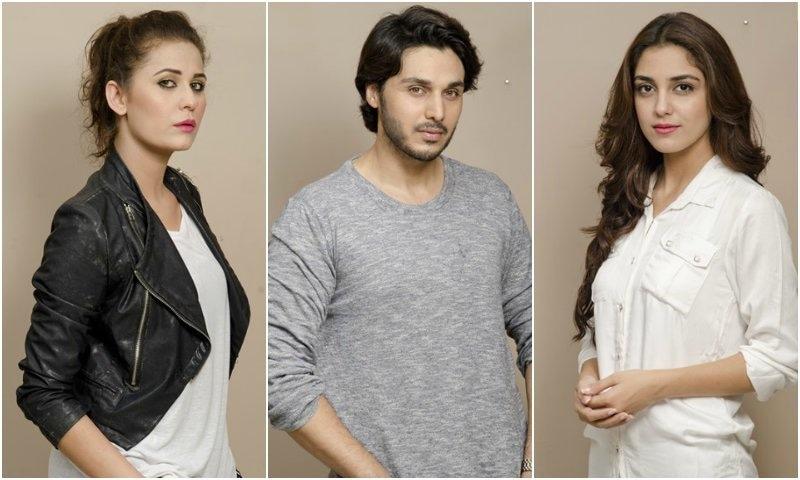 Nausheen Shah, Ahsan Khan and Maya Ali star in Zid. —Photo Courtesy: HUM TV's website.