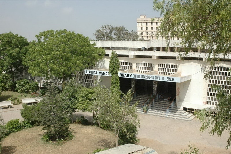 The Liaquat National Memorial Library. —Photo courtesy of the Government of Sindh website.