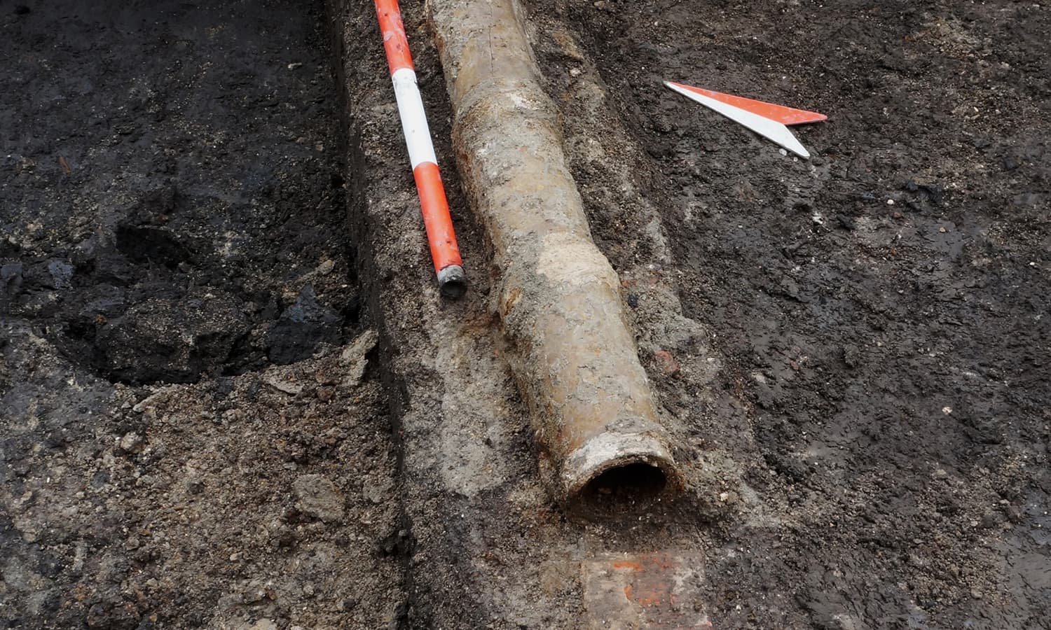 An intact pipe discovered was a part of one of the first urban plumbing systems in Romania. © 2014, Dr Florin Drasovean