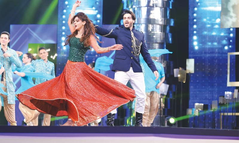 Ahsan Khan and Saba Qamar dance to popular tunes