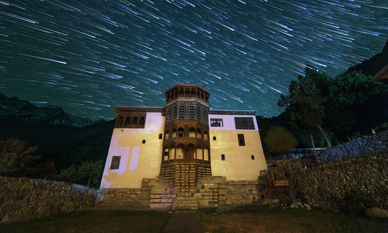 Khaplu fort at night. — S.M.Bukhari