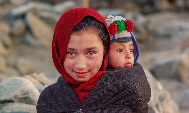 Kids from Machlu. — S.M.Bukhari