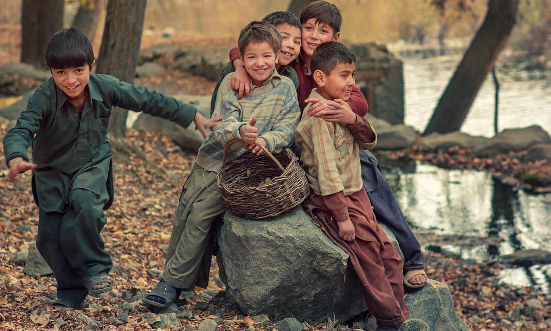 Children in Khaplu. — S.M.Bukhari