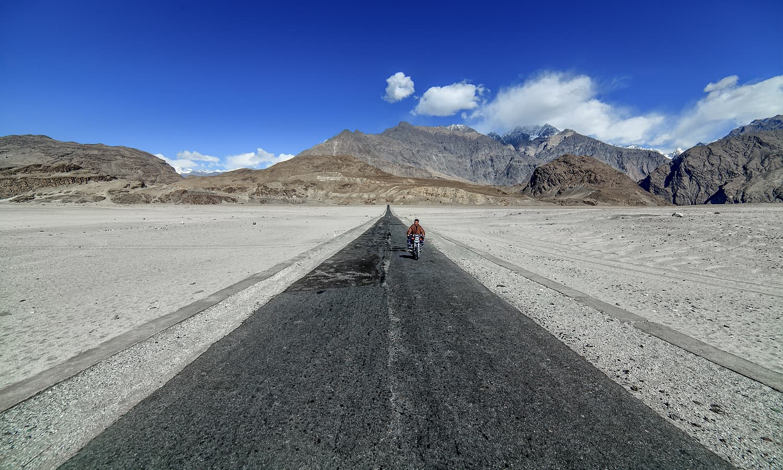 Road to Shigar. — S.M.Bukhari