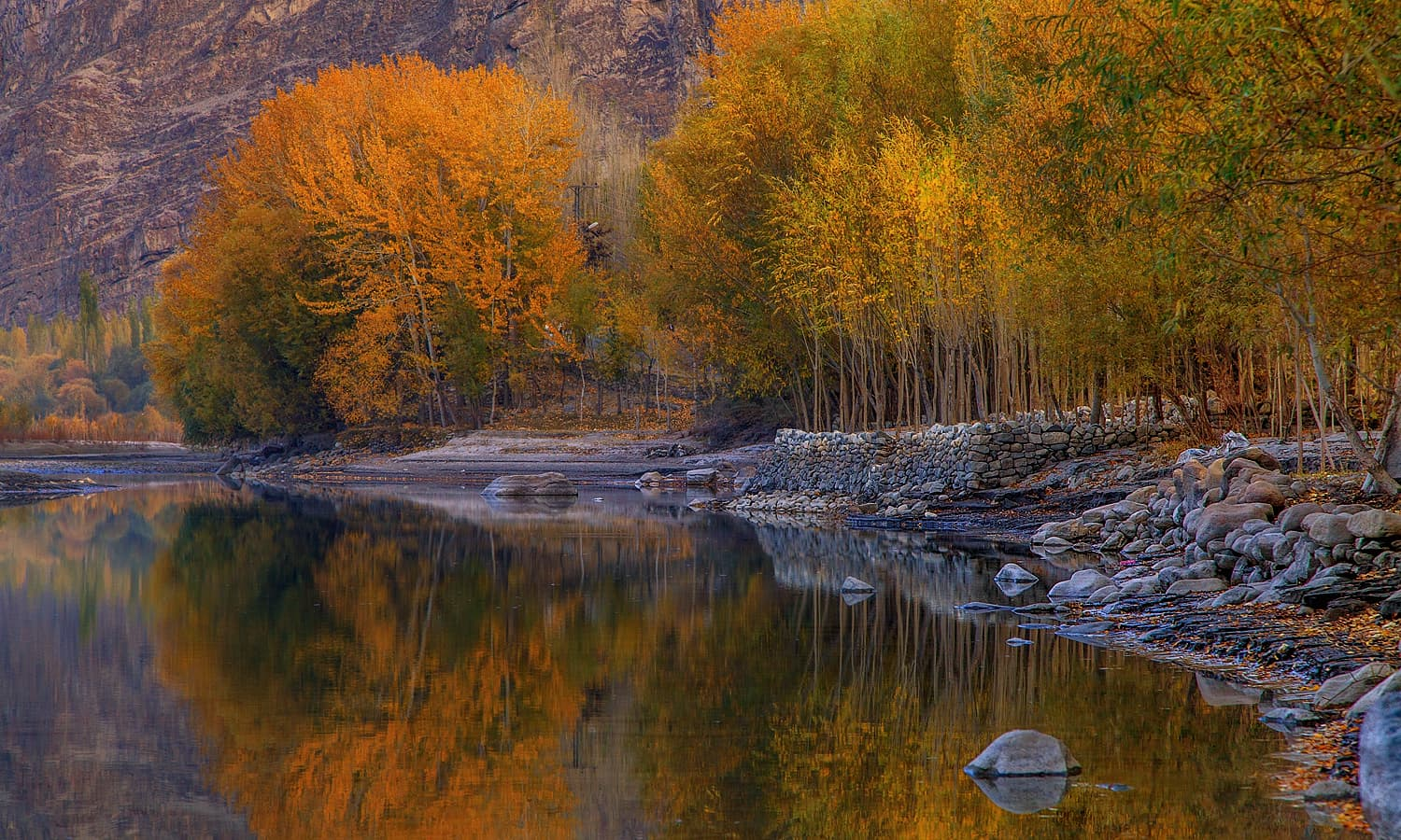 Autumn In Khaplu. — S.M.Bukhari