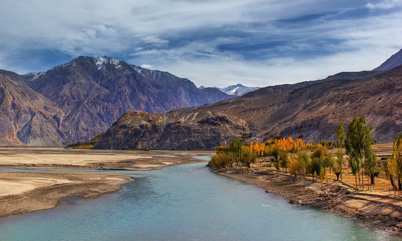 Shyok river. — S.M.Bukhari