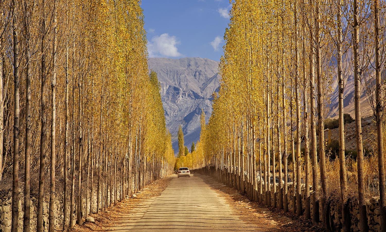 Road to Khaplu. — S.M.Bukhari