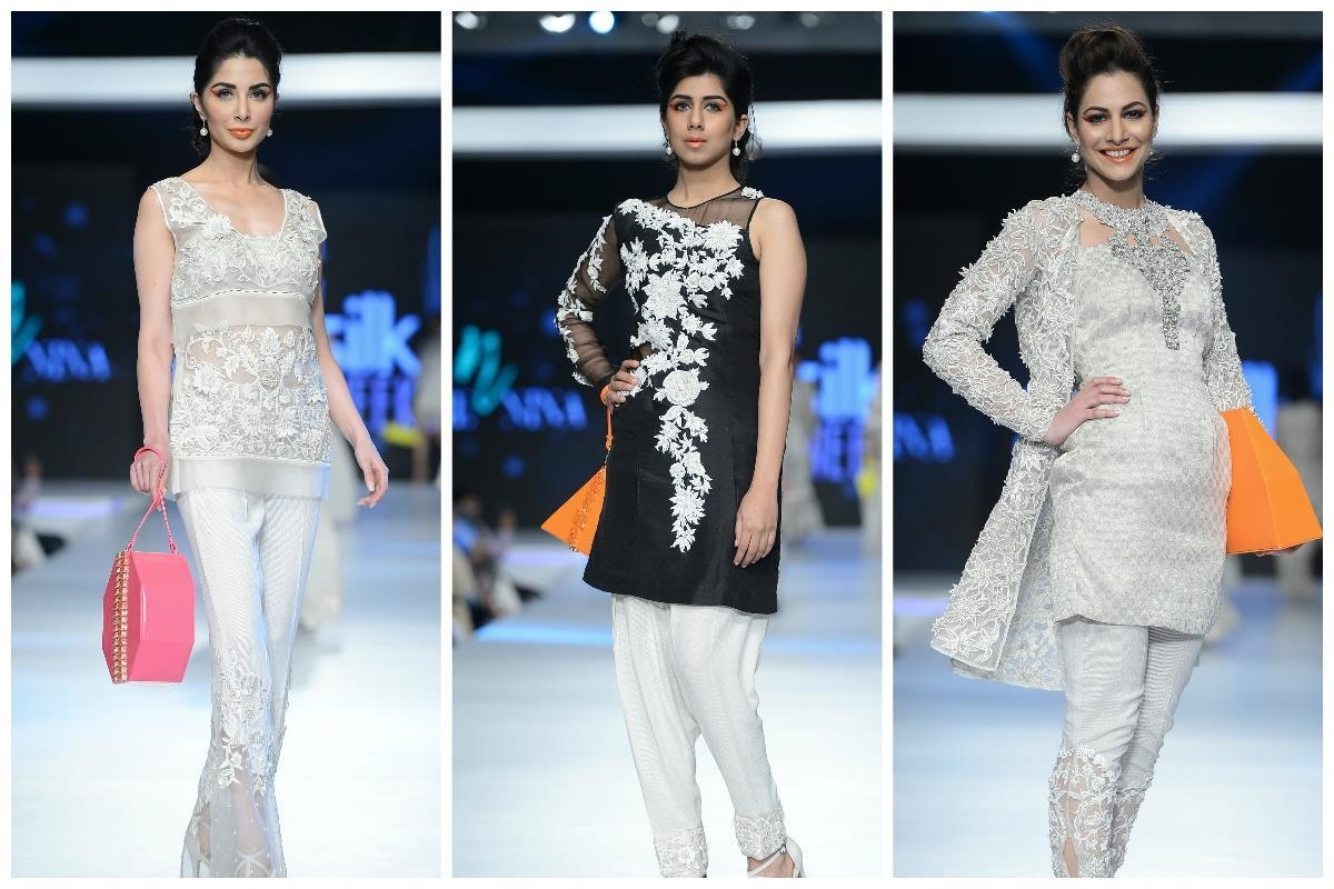 Looks by Nickie Nina, accessorised by bright bags. - Photo: Faisal Farooqui and his team at Dragonfly
