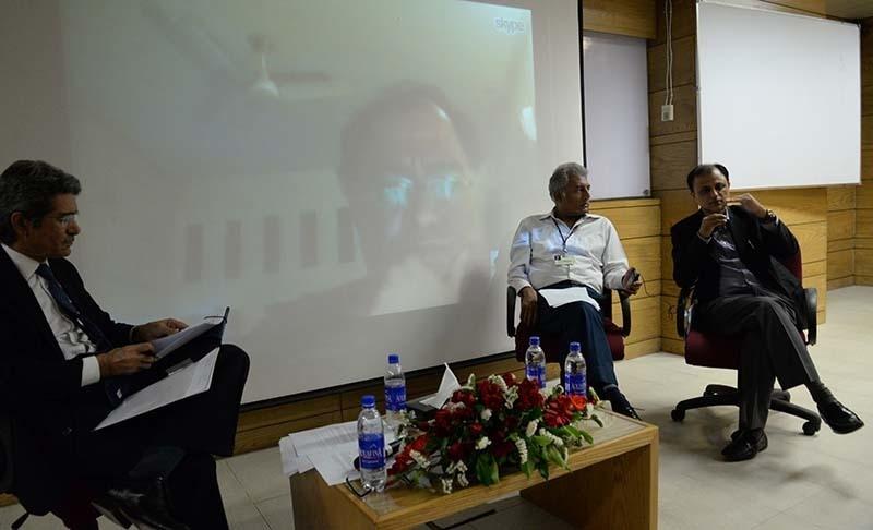 Left to right: Tanwir Naqvi, Ali Cheema via Skype, Leon Menezes and Farhan Anwar | Faisal Mujeeb, White Star
