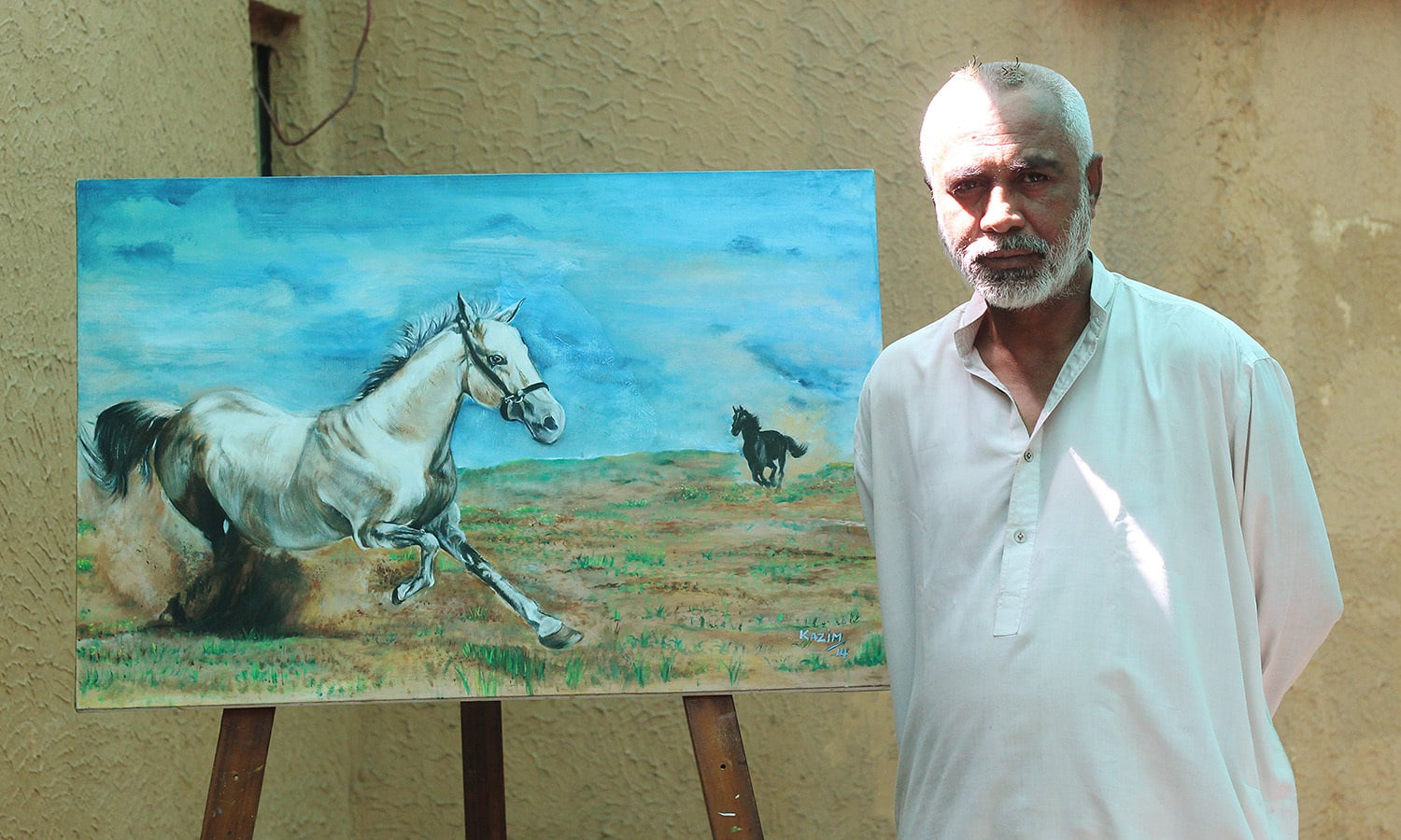 One of the paintings made by Kazim.