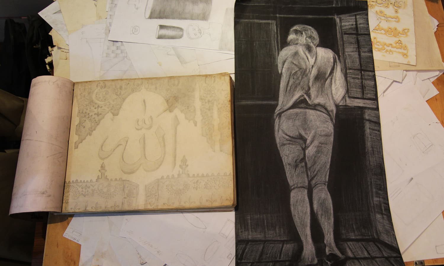 Students of the art school indulge in all forms of artwork, including painting, relief work and sketching. Many pieces from the artwork has been exhibited at Alliance Francaise and Citi Art gallery. Money earned from the sale of the artwork is distributed amongst the prisoners who then spend it on art equipment.