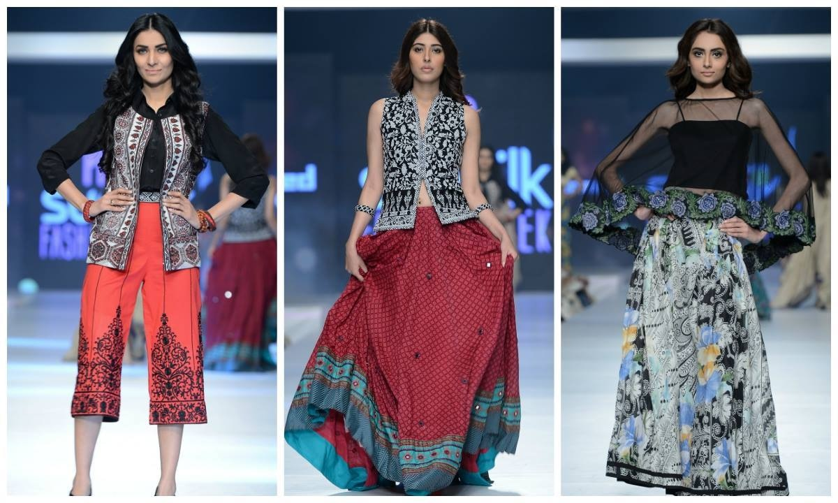 Three looks from Gul Ahmed. — Photo: Faisal Farooqui and his team at Dragonfly