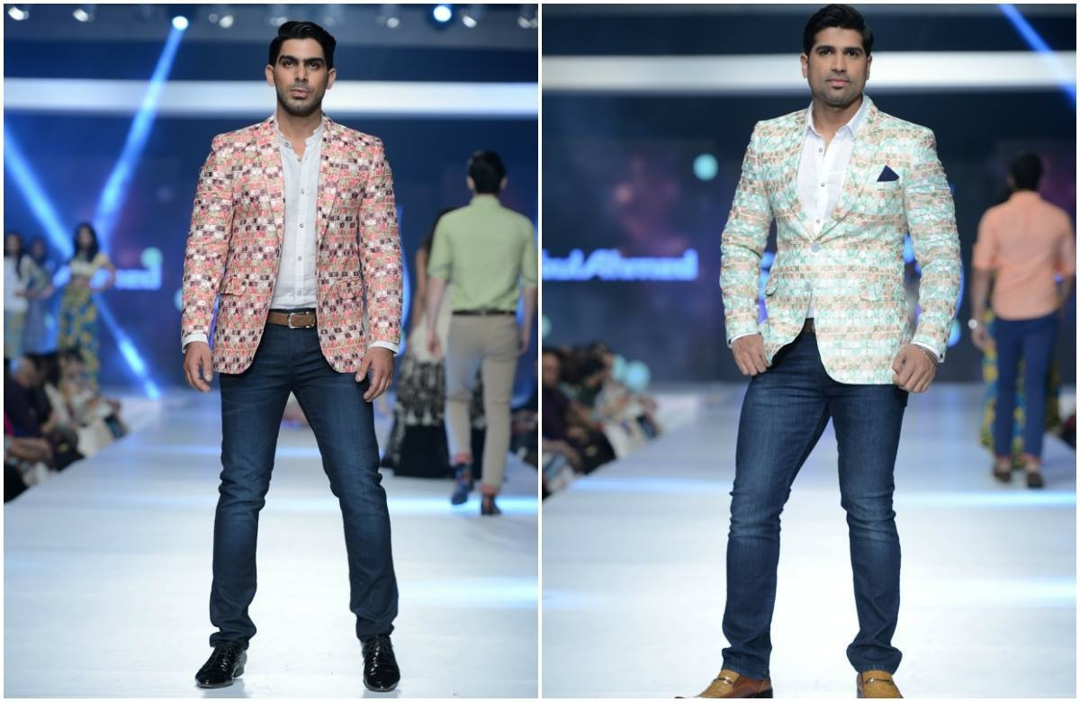 Gul Ahmed showed menswear too. — Photo: Faisal Farooqui and his team at Dragonfly