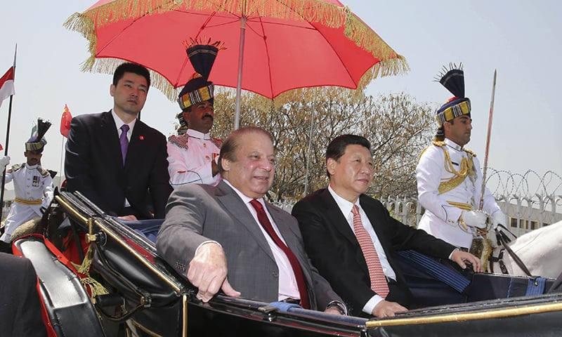 President Jinping departs for Presidency in horse-drawn carriage. —AP
