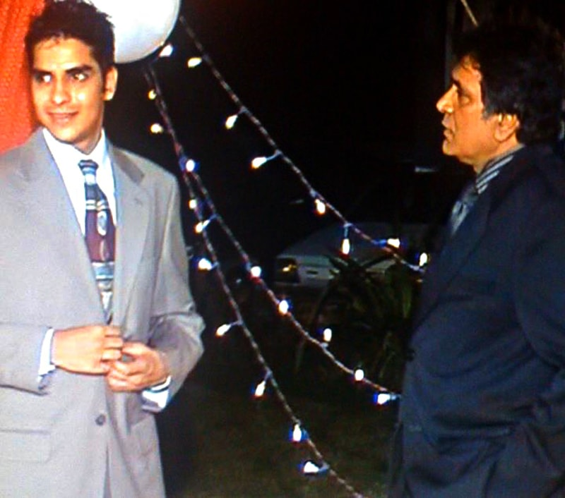 The author with Moin Akhtar.