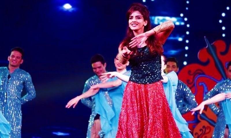 Saba Qamar at this year's Hum TV Awards.