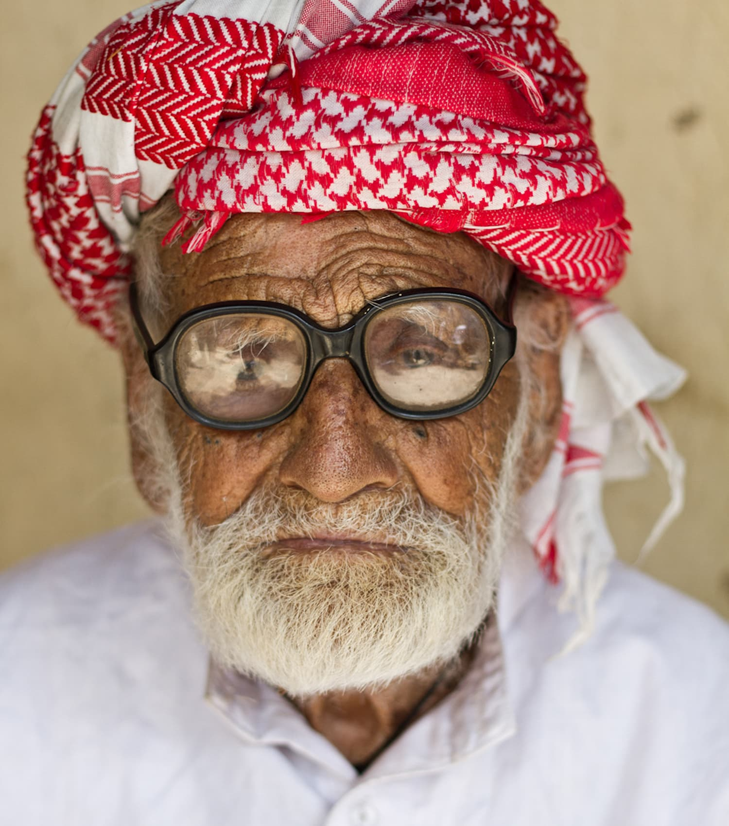 Muzaffar (Chacha Kalu) is pictured at his house in Chakwal. - Photo by author