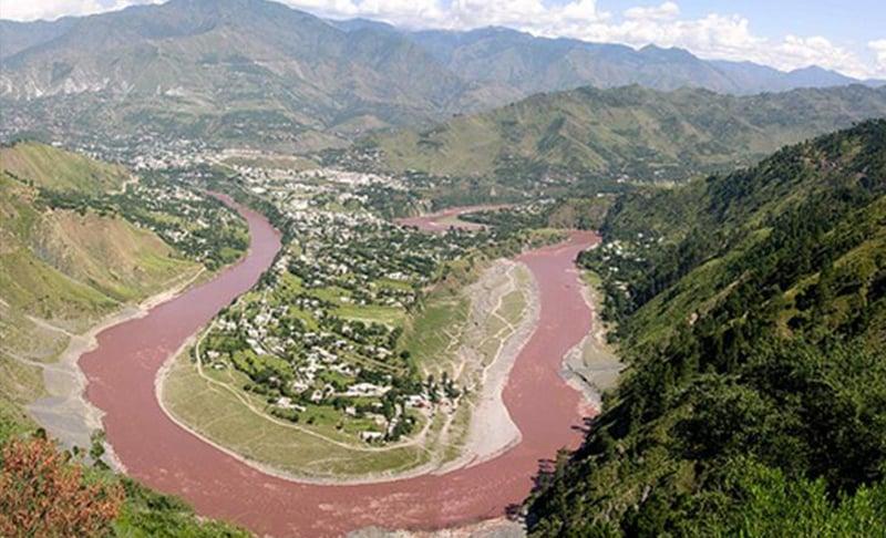 River Jhelum in Muzaffarabad