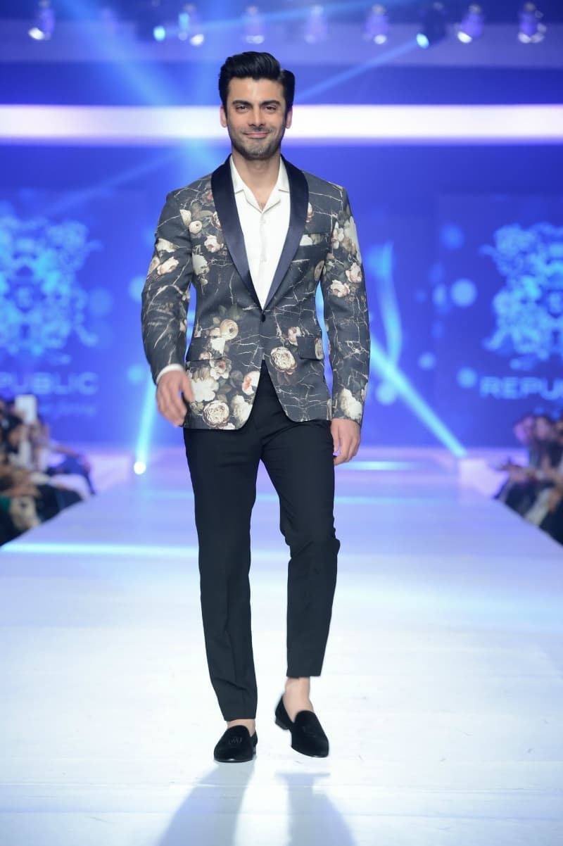 Fawad Khan walks for Republic.— Photo:  Faisal Farooqui and his team at Dragonfly