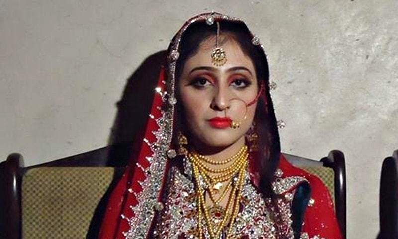Tahira on her wedding day. —Photo from 'Justice for Tahira Khoso' Facebook page.
