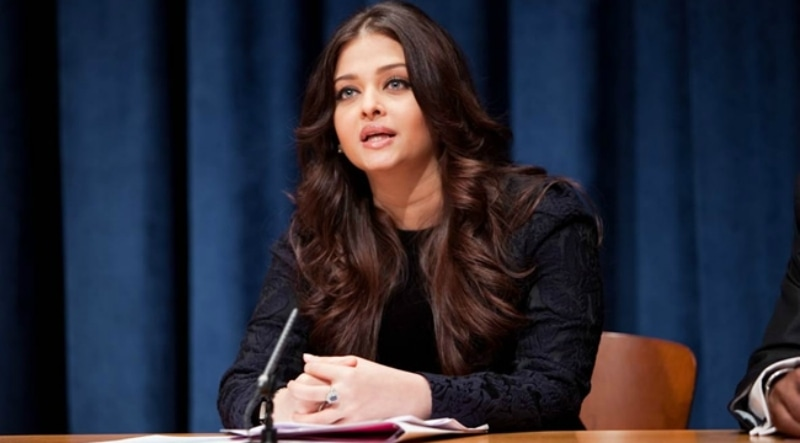 Aishwarya speaking at the 67th UN General Assembly. —Photo: Businessofcinema.com