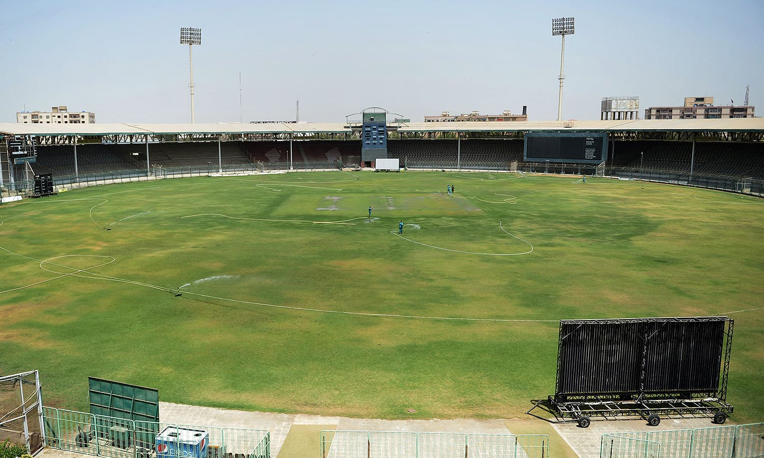 A general view of the National Stadium Karachi. — AFP