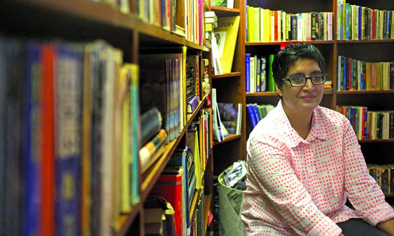 T2F Director Sabeen Mahmud. — White Star