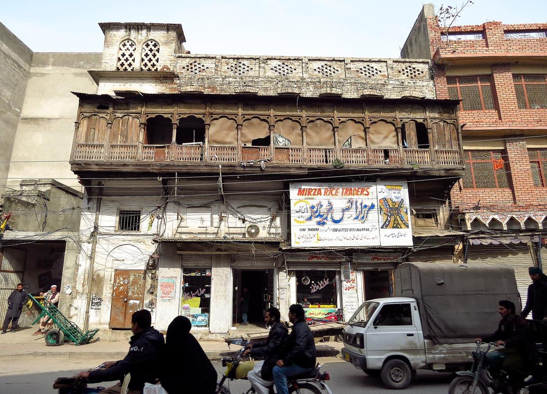 View of a street in Rawalpindi.