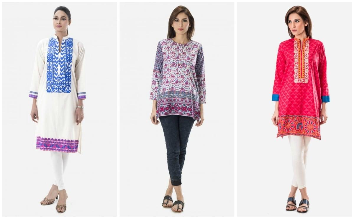 Outfits by Khaadi. — Photo courtesy: Khaadi's website