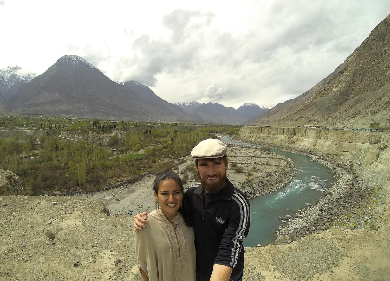 Overlooking Gilgit River.